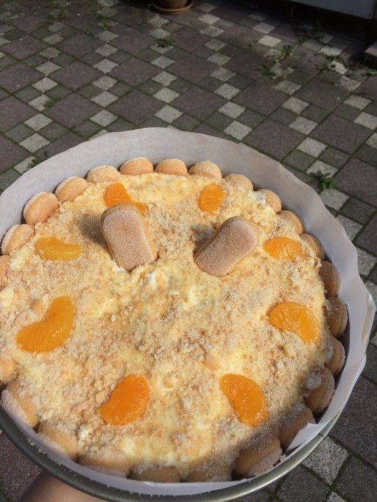 Philadelphia Torte mit Mandarinen und Löffelbiskuits, ein raffiniertes Rezept aus der Kategorie Torten. Bewertungen: 50. Durchschnitt: Ø 4,6. #löffelbiskuitrezept