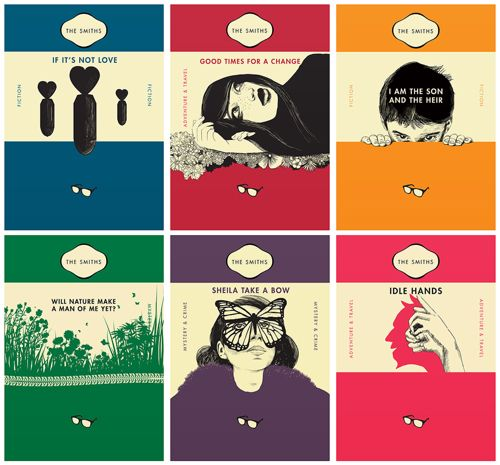 Penguin Book Cover Posters ~ The smiths lyrics as classic penguin paperback book covers