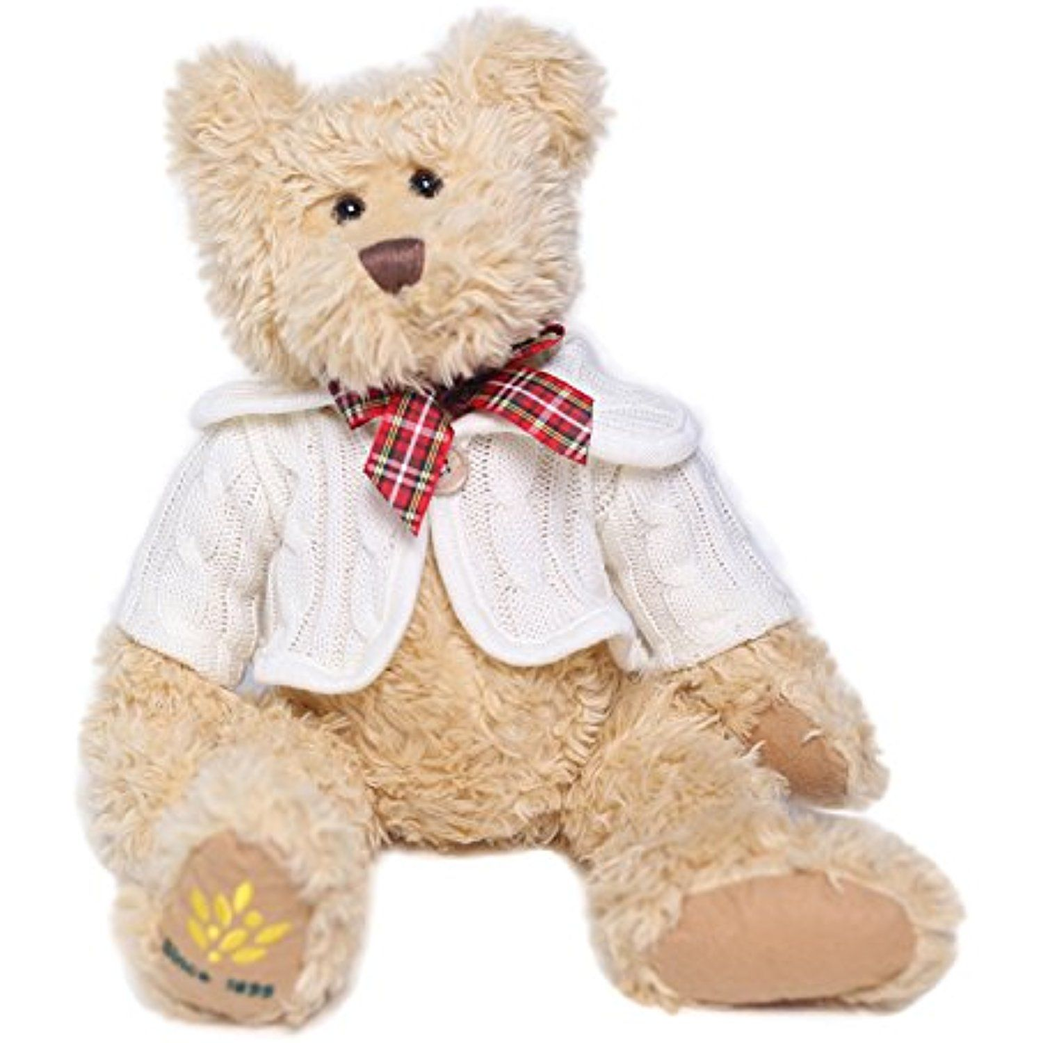 Teddy Bear 15 Inch Plush Classic Stuffed Animal With England Bowtie And Detachable Sweater Tan By Hollyhome Che Teddy Bear Stuffed Animal Animals Teddy Bear [ 1500 x 1500 Pixel ]