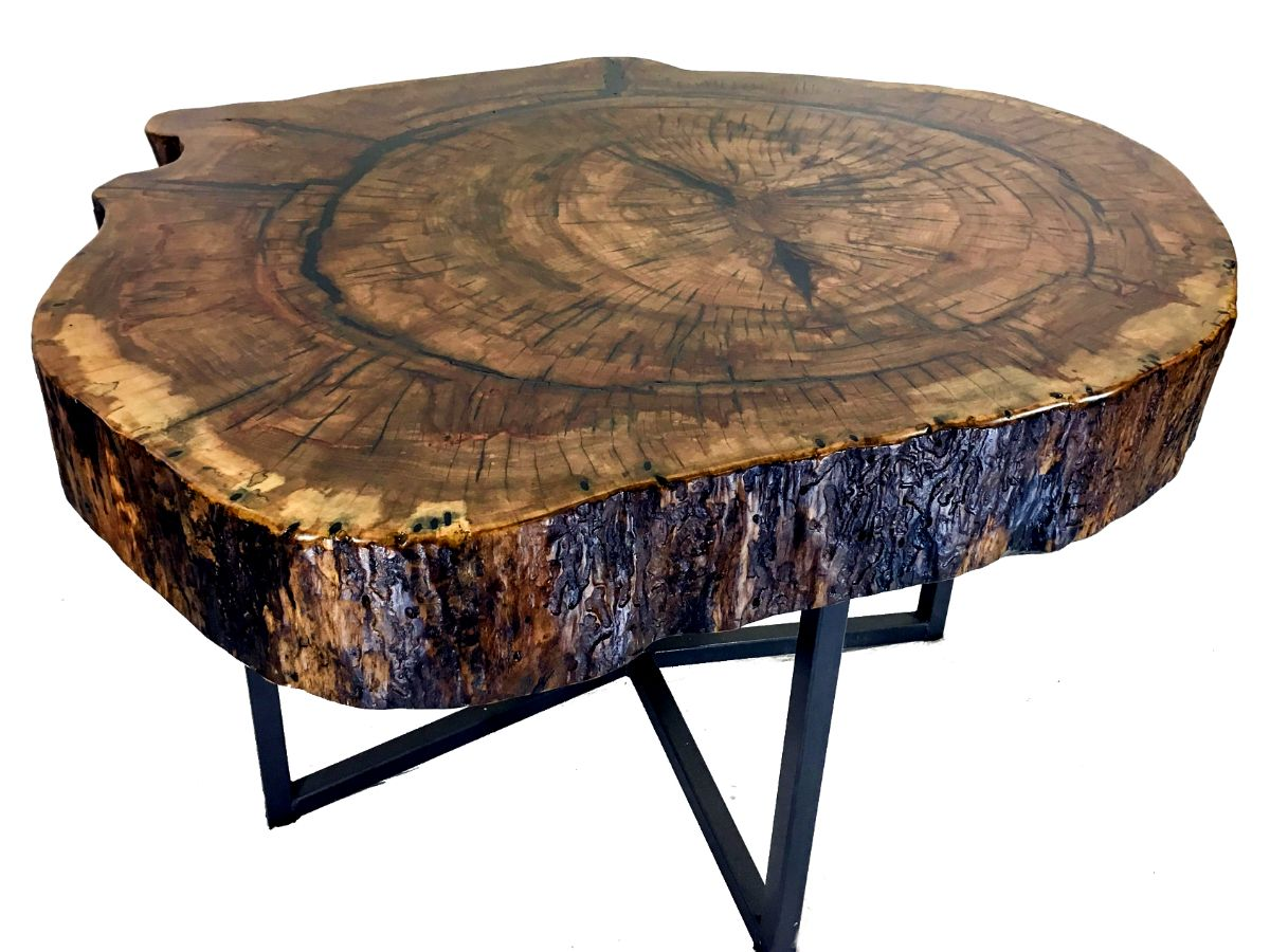 Massive Solid Oak End Table The Unmatched Beauty Of This Solid Oak Tree Slice Will Bring The Wonder Of Nature To Your Home Ch Oak End Tables End Tables Table