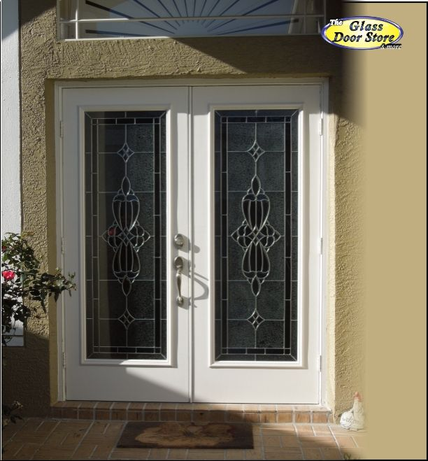 Traditional Glass Door Inserts For Fiberglass Double Doors Added On