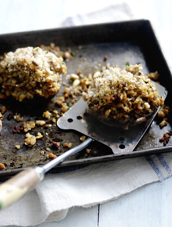 Image result for healthy haggis stuffed mushrooms