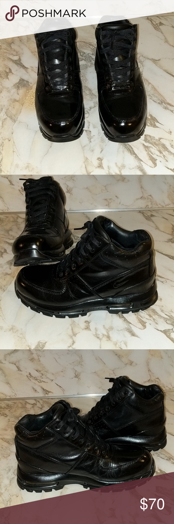 super popular 022be 23d42 Men s Nike Air Max Goadome Boots Size 10 Very nice ankle height nike air max  acg non steel toe boots,full length air sole. Very well tooken care of will  new ...
