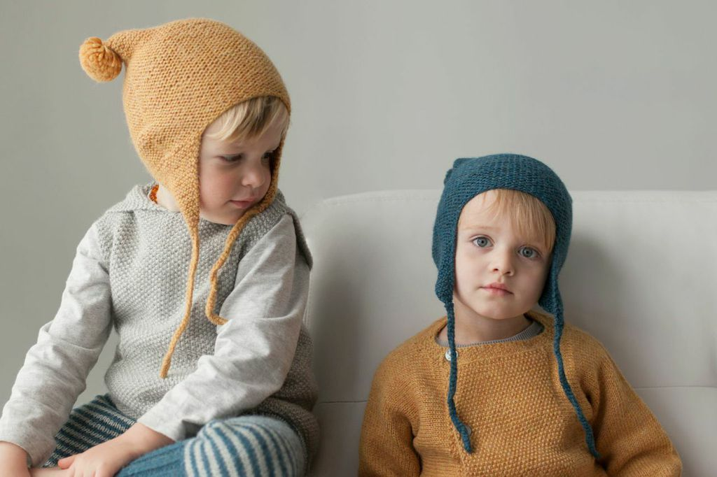Handknits for kids in beautiful colours. Miou Kids.