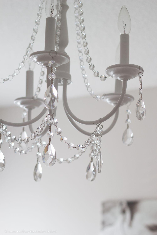 Diy crystal chandelier easy tutorial chandeliers crystals and diy crystal chandelier mozeypictures Image collections
