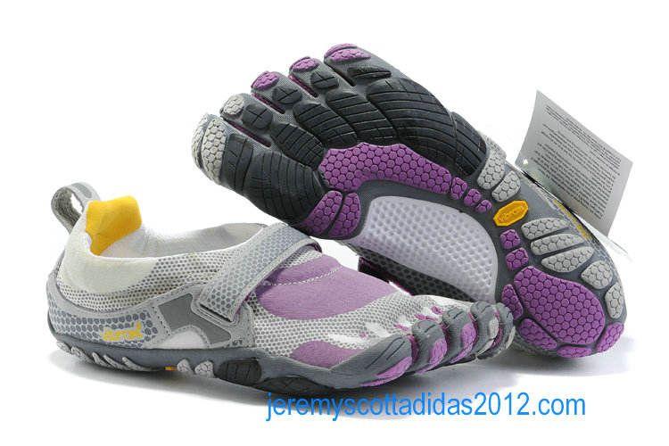 reputable site b7e6e a7263 Vibram Five Fingers Bikila Shoes White Purple