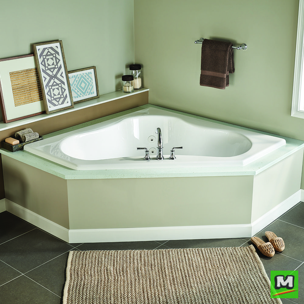 With plenty of room for two, the Eljer Gemini Acrylic Whirlpool is ...