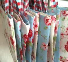 handmade fabric favour bags