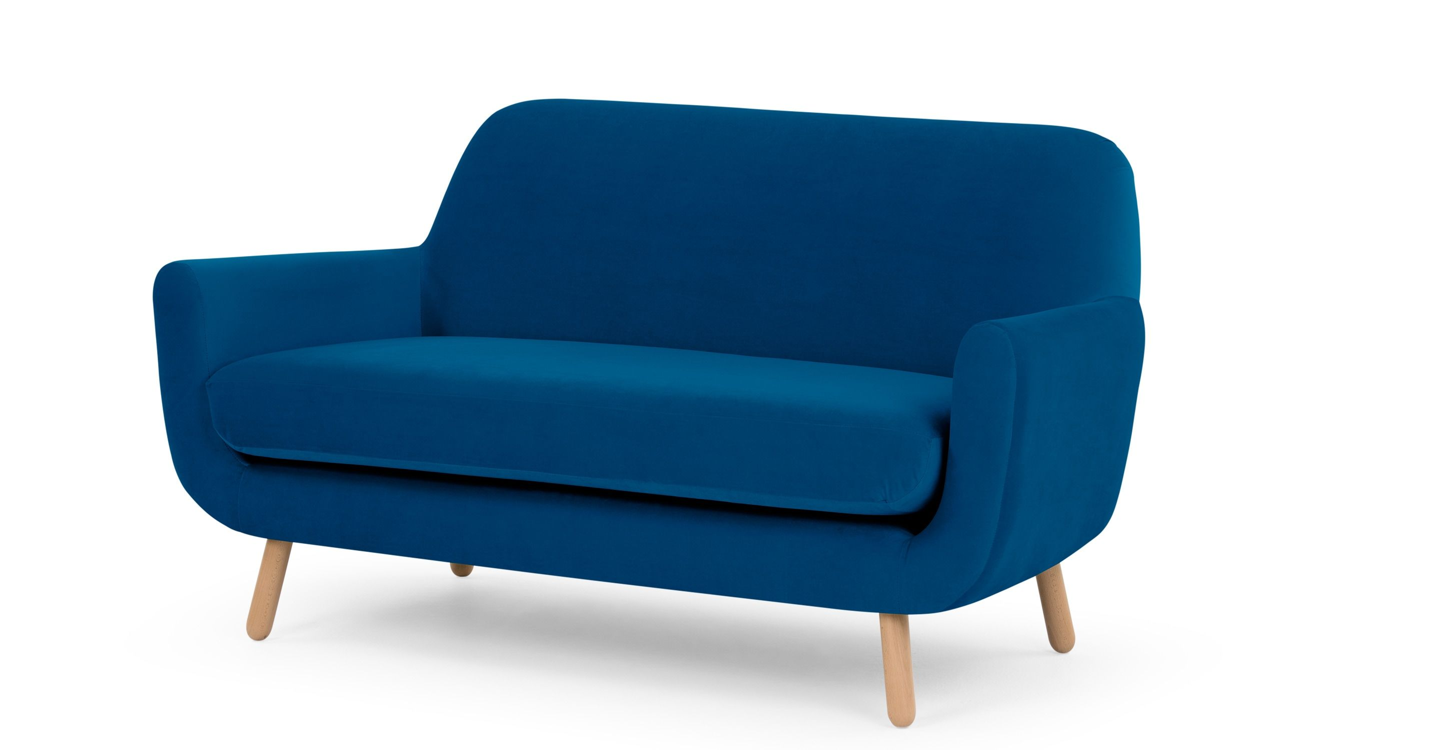 Jonah 2 Seater Sofa Cobalt Blue Sofas For Kitchen 2 Seater Sofa Sofa Sofa Shop