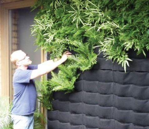 16 jardines verticales tela jardiner a pinterest for Jardines traseros pequenos