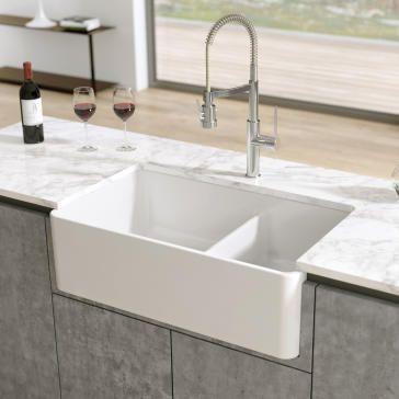 Latoscana Ltd3319w 33 Reversible Fireclay Farmhouse Sink Fireclay Farmhouse Sink Farmhouse Sink Tuscan Kitchen