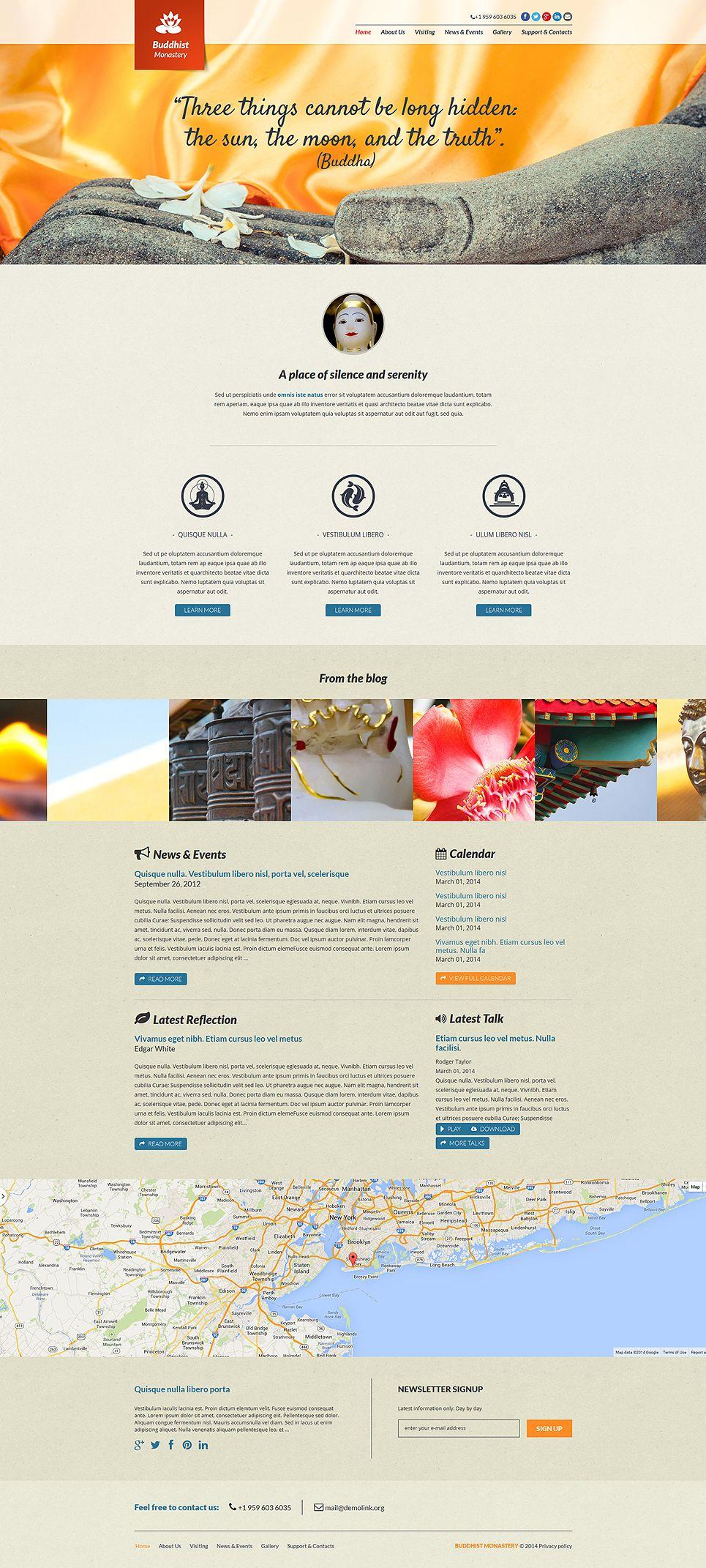 Buddhist Responsive Joomla Template 48640 Joomla Templates Web Template Design Joomla Themes