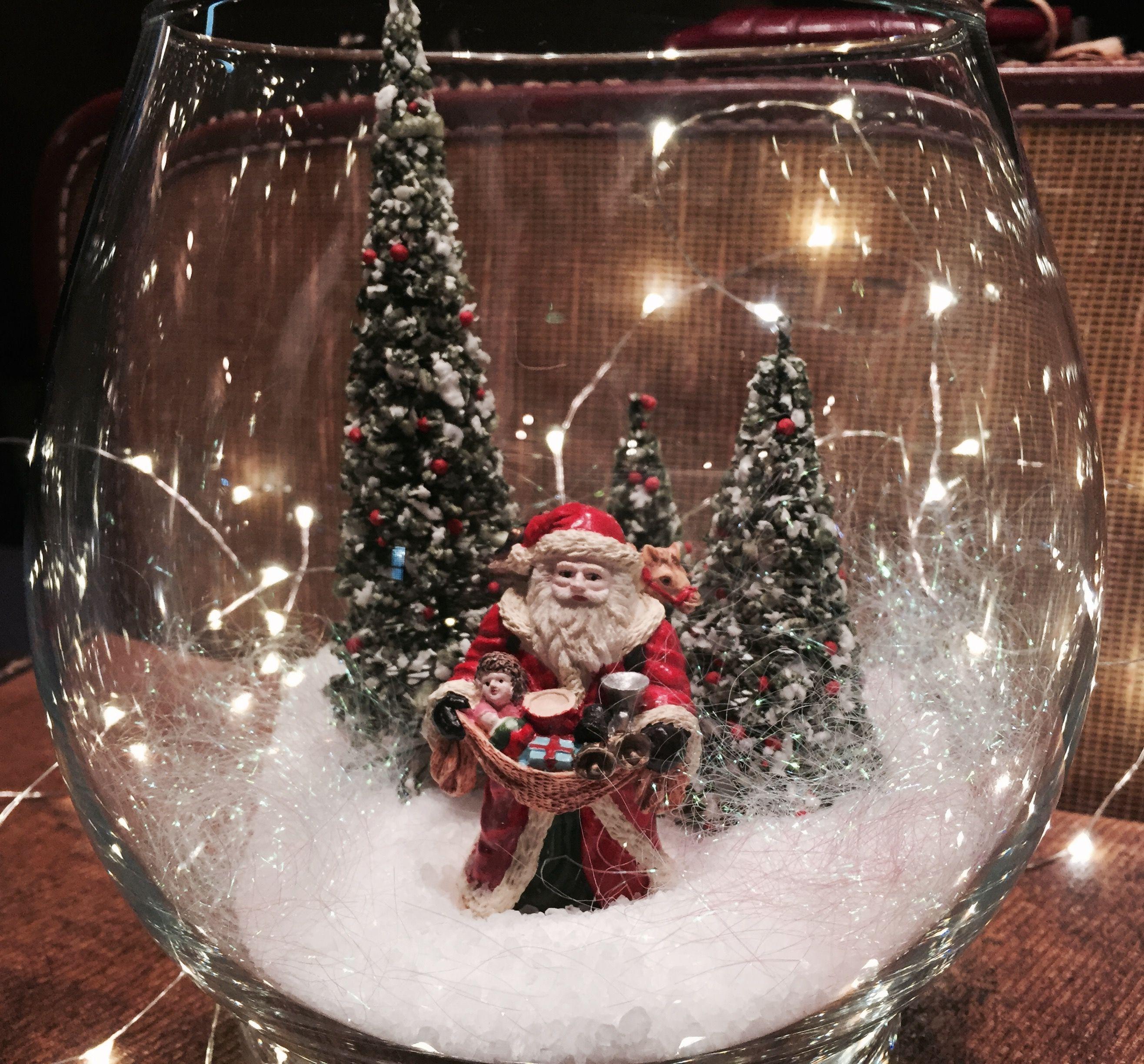 Santa snow scene terrarium   Weihnacht,Advent   Pinterest   Advent