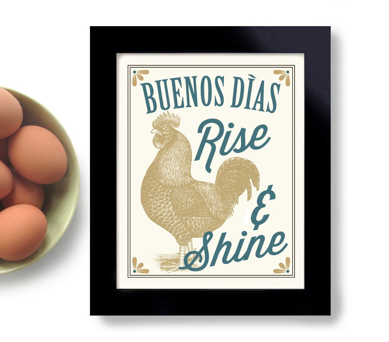 rooster kitchen decor red accessories pin by annamaria on decorate artwork buenos dias mexican folk country style spanish home art print good morning