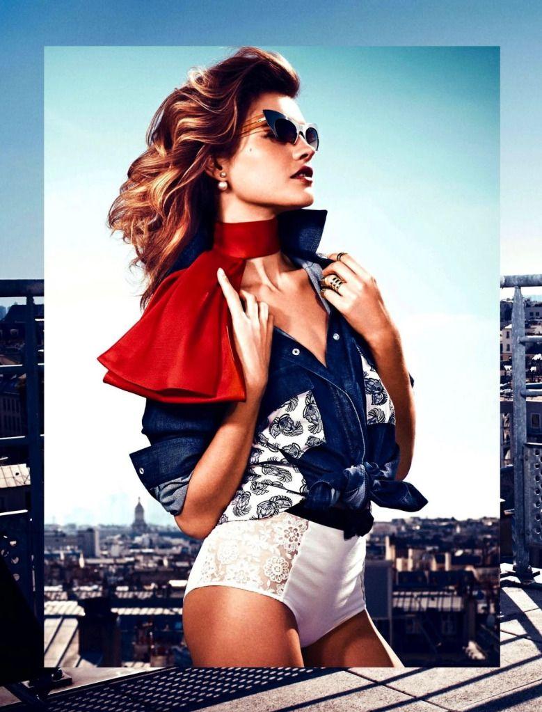 Natalia Vodianova by Vanmossevelde + N for Glamour France July 2013 3
