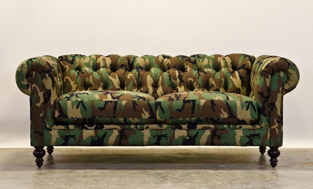 Broyhill Sofa Fancy Camouflage Chesterfield Couch by CoCoCo Home