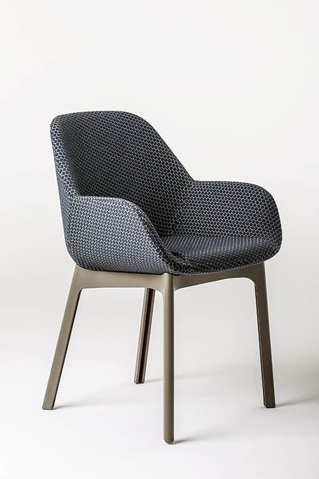 Fauteuil Rembourre Clap Kartell Noir Beige Made In Design Mobilya Koltuklar Tasarim