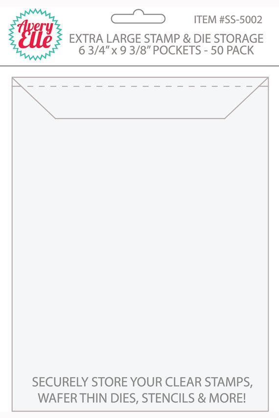 Avery Elle ~ STAMP /& DIE STORAGE ~ Large ~ Set of 50 Storage Pockets