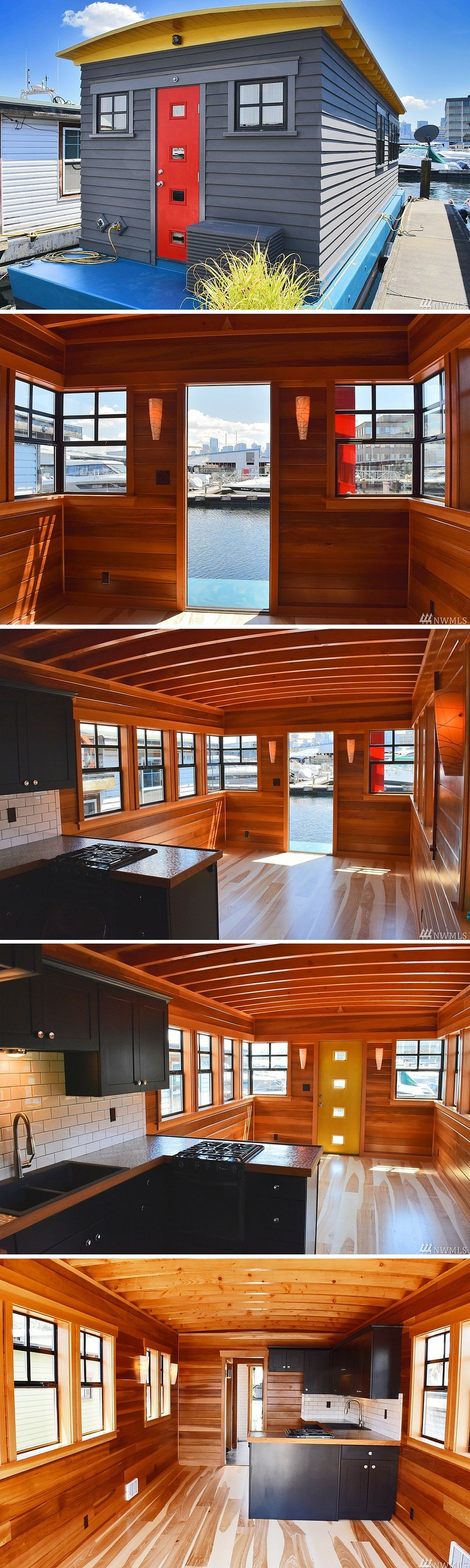 It's About Time: a 400 sq ft houseboat in Seattle | Alternative Tiny Homes | Floating house ...