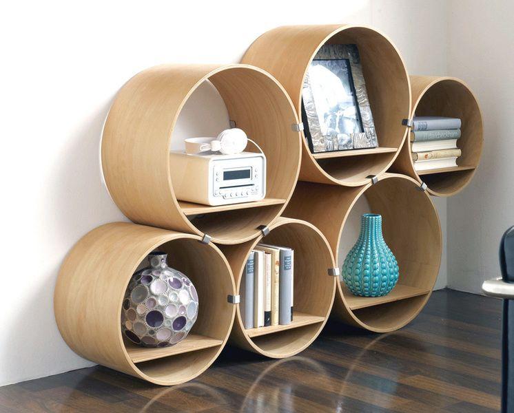 1 Regalröhre klein/tief, Flexi Tube Nature - Kisskalt-Designs - Regały