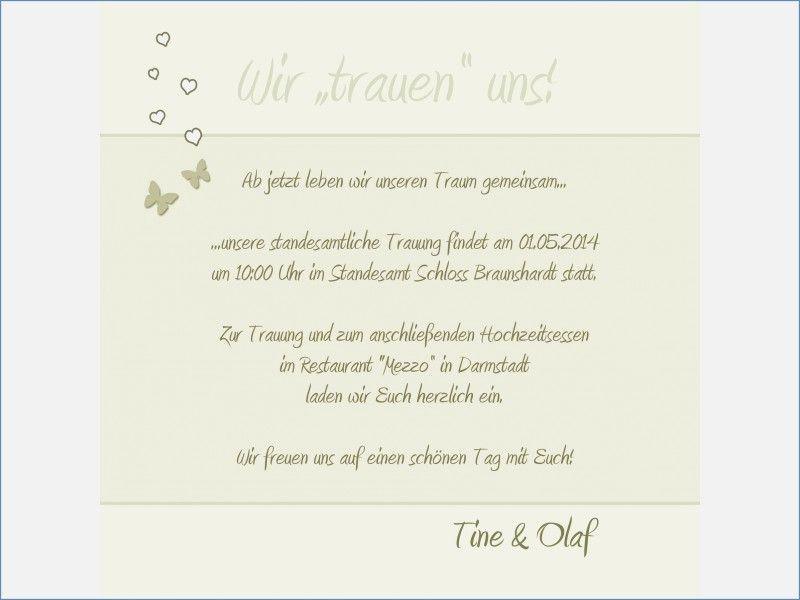 Text Einladung Hochzeit Standesamt - Hochzeits Idee