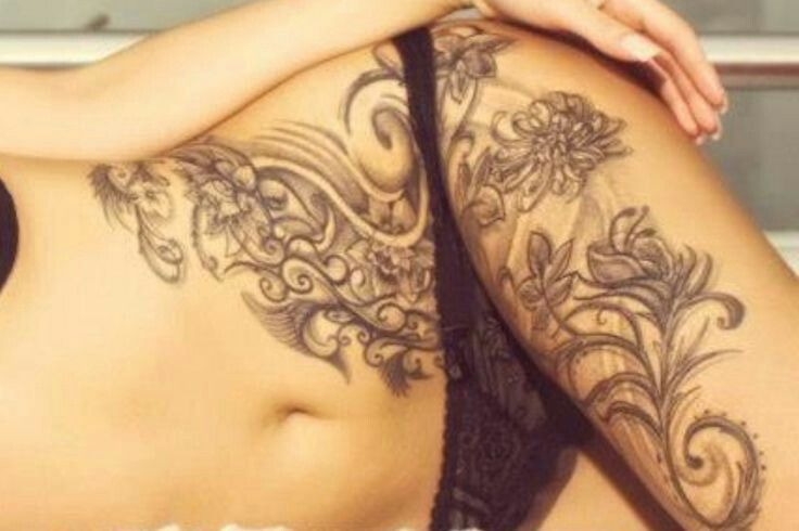 Body Tattoo Stomach Tattoos Women Tattoos For Women Thigh Tattoos Women