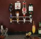 Rack & Pour Metered Wall Mount 4 Bottle 1 oz. shot size by Precision Pour. $244.02. Rack & Pour Metered Wall Mount 4 Bottle 1 oz. shot sizeThis 4 bottle Rack & Pour™ wall-mount unit will support 1.75 liter bottles and 750ml bottles. This wall-mount unit must be securely attached to a solid wall or the studs behind a finished wall in order to support the weight of the liquor bottles. The measuring heads are metered to show you how many shots of liquor it has dispen...