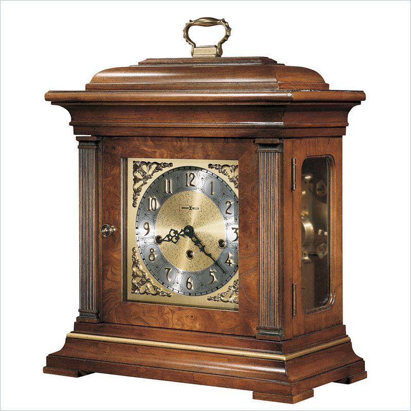 Amazing Howard Miller Thomas Topion Key Wound Mantel Clock