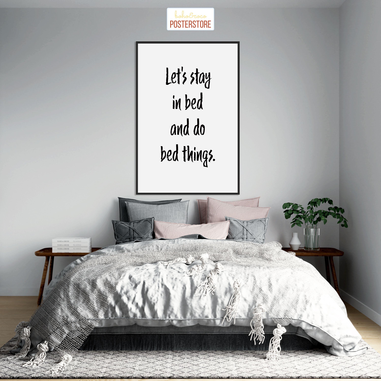 Stay In Bed Poster In 2020 Skandinavische Wohnraume Schlafzimmer Einrichten Blaue Wohnzimmer