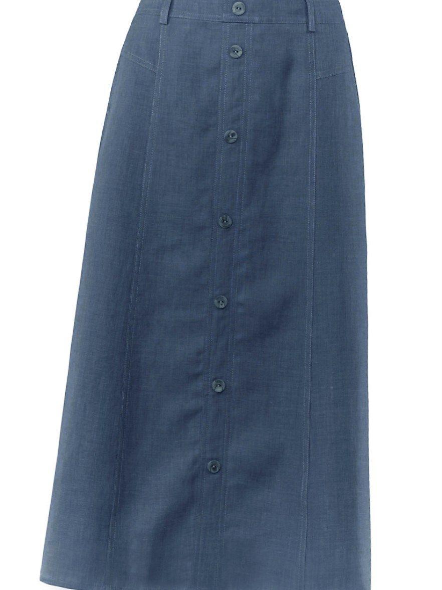competitive price 46337 a93ee Jeansrock lang große größen #trend #damenmode #GroßeGrößen ...