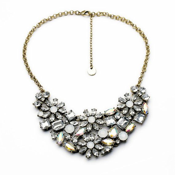 Crystal Statement Necklace Chunky Statement by Attractivenecklace, $12.50
