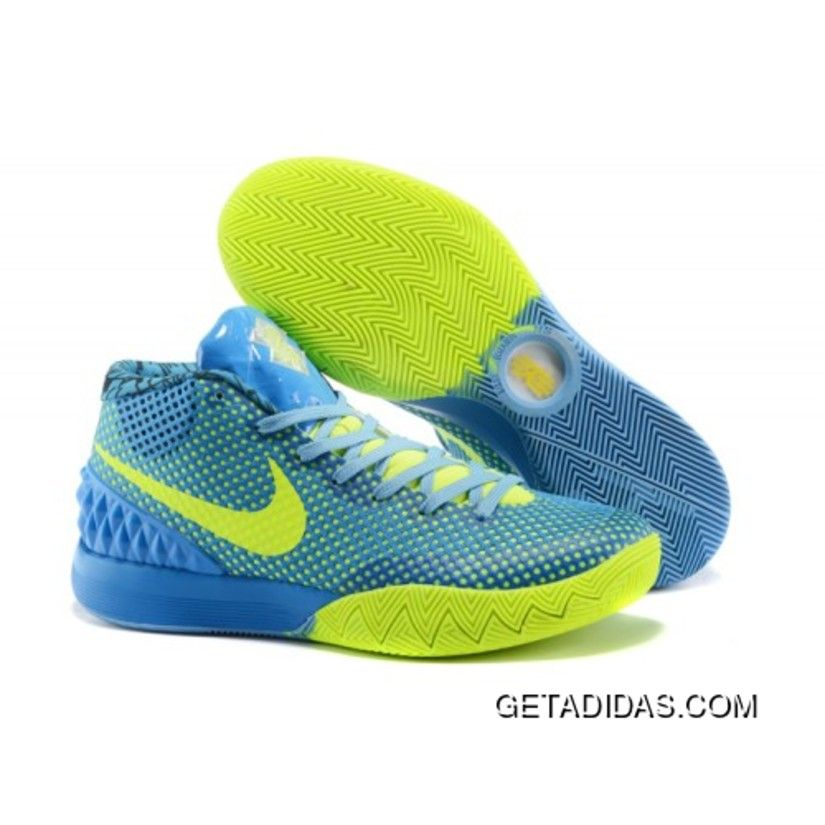 Nike Kyrie 1 Custom Blue Yellow Basketball Shoes New Style, Price: $92.47 -  Adidas Shoes,Adidas Nmd,Superstar,Originals