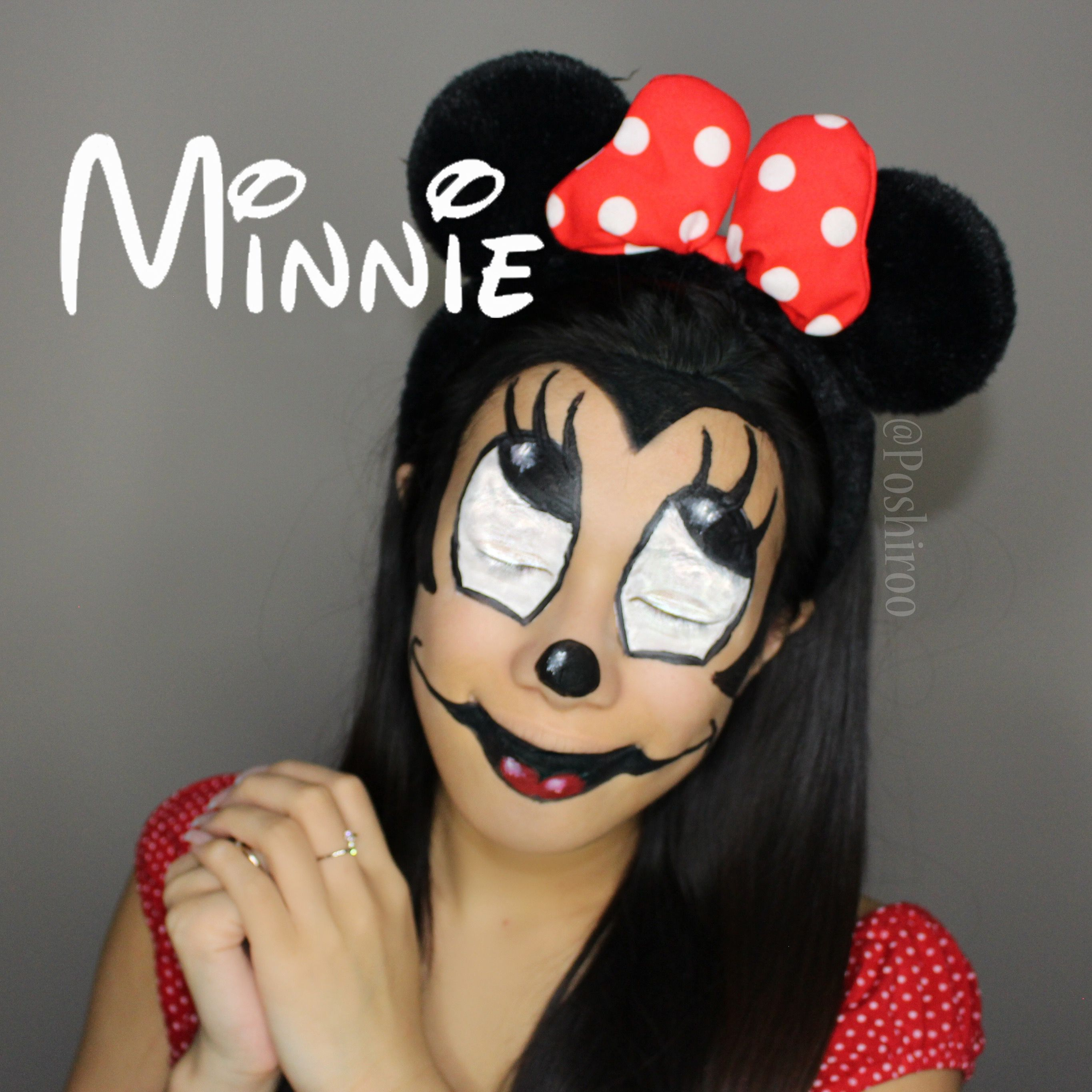 Scary Minnie Mouse Diy Makeup Tutorial Step By Easy Creepy Disney Mickey Costume For S Kids Women Poshiroo