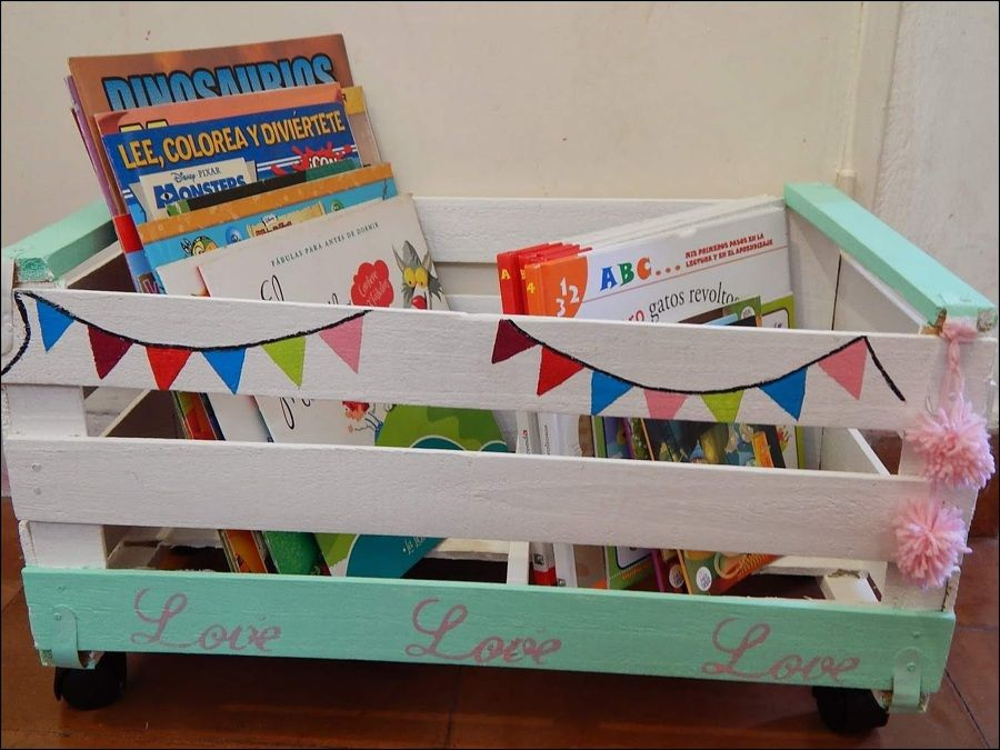 Caja de frutas para guardar cuentos ideas and crafts ideas decoupage y ideas para - Cajon para guardar juguetes ...