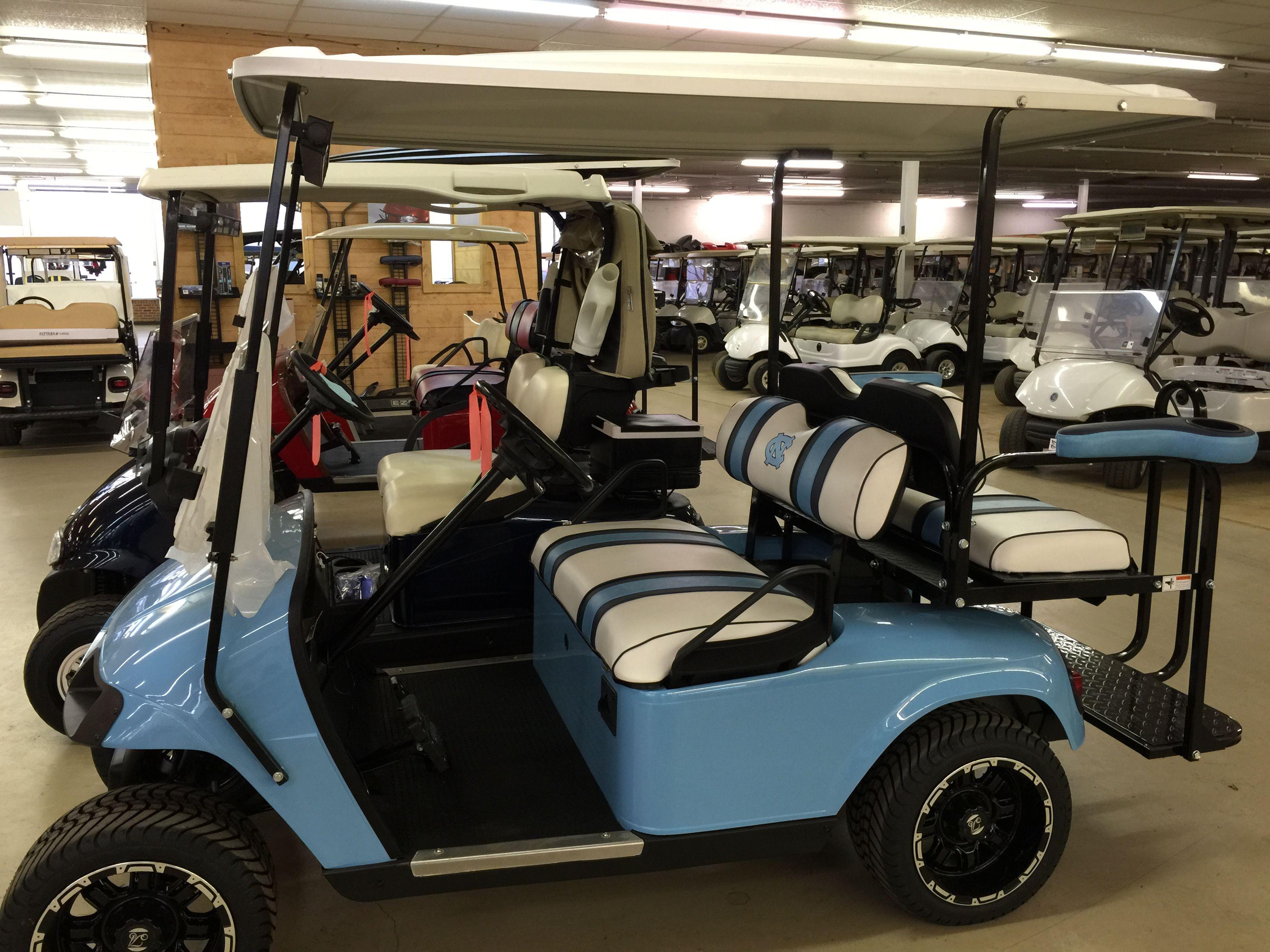 Customized Nc Tarheels Ezgo Txt Golf Carts Golf Car Golf