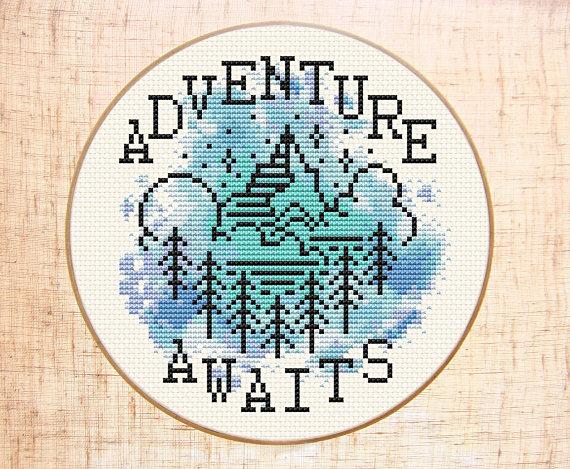 Adventure Awaits Cross Stitch Kit by Stitchering