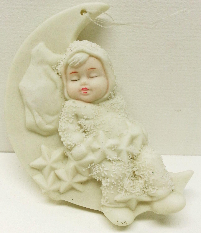 Snowbaby ornaments - Dept 56 Snow Babies Sleeping Moon Hanging Ornament Snowbaby Figurine