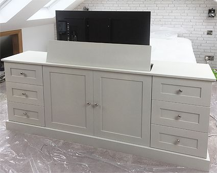 Hidden Tv Cabinet With Lift Popup End Of Bed Bespoke Custom Made To Measure With