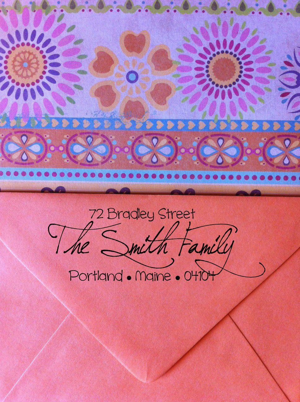 CUSTOM Calligraphy Return Address Stamp | Tying the Knot | Pinterest ...