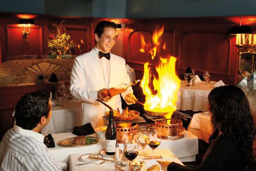 Quebec City Restaurant Le Continental Au Guéridon Service At The Table Quebec