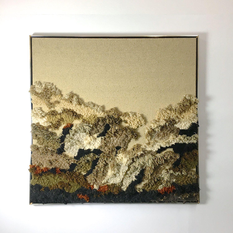 Monumental framed fiber wall sculpture attributed to Robert Kidd ...