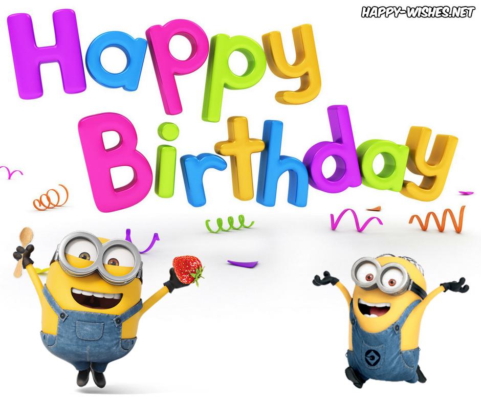 Happy Birthday Minion Images Happy Wishes Idee Deco Bonne Fête