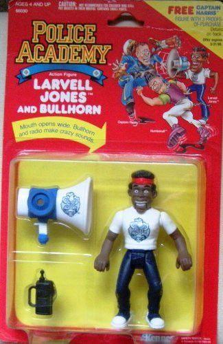 5 Larvell Jones Action Figure And Bullhorn Police Academy Action Figures Police Academy Action Figures Kenner