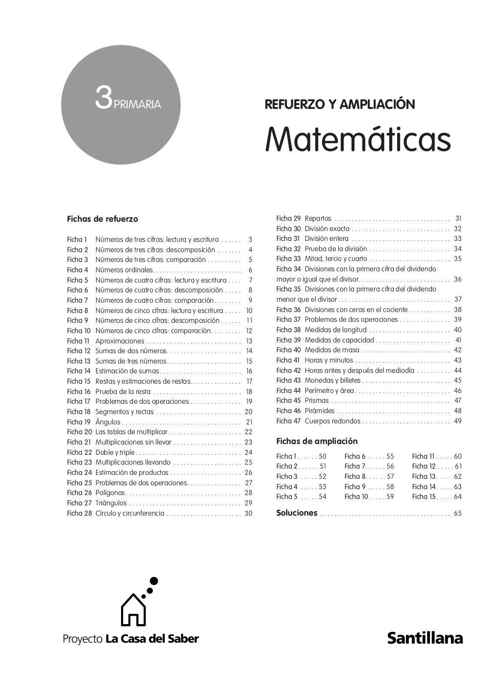 3º prim matematicas refuerzo y ampliacion santillana by aaspms via  slideshare