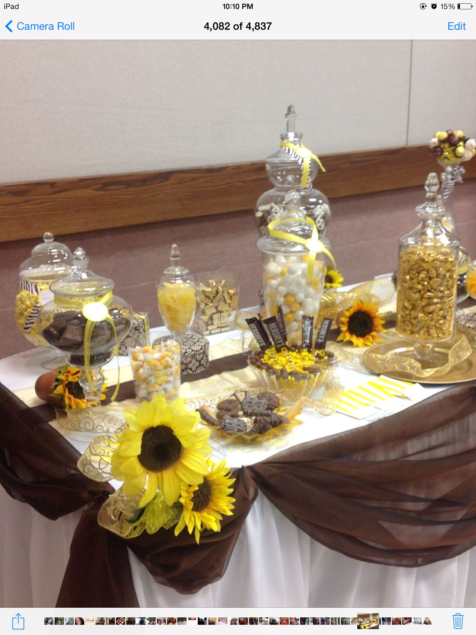 Sunflowers & Chocolate Candy Buffet by Romantic EncounterZ