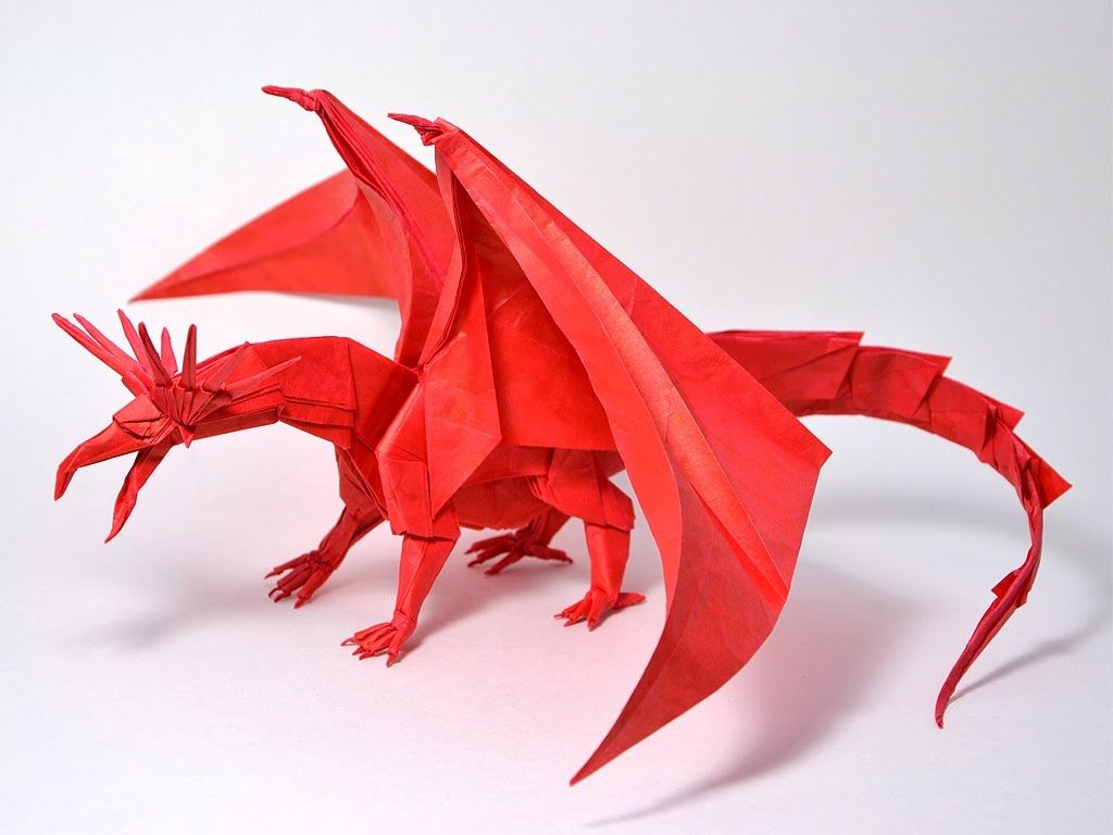 Origami 3d dragon instructions - how to make orgami dragon ... - photo#36