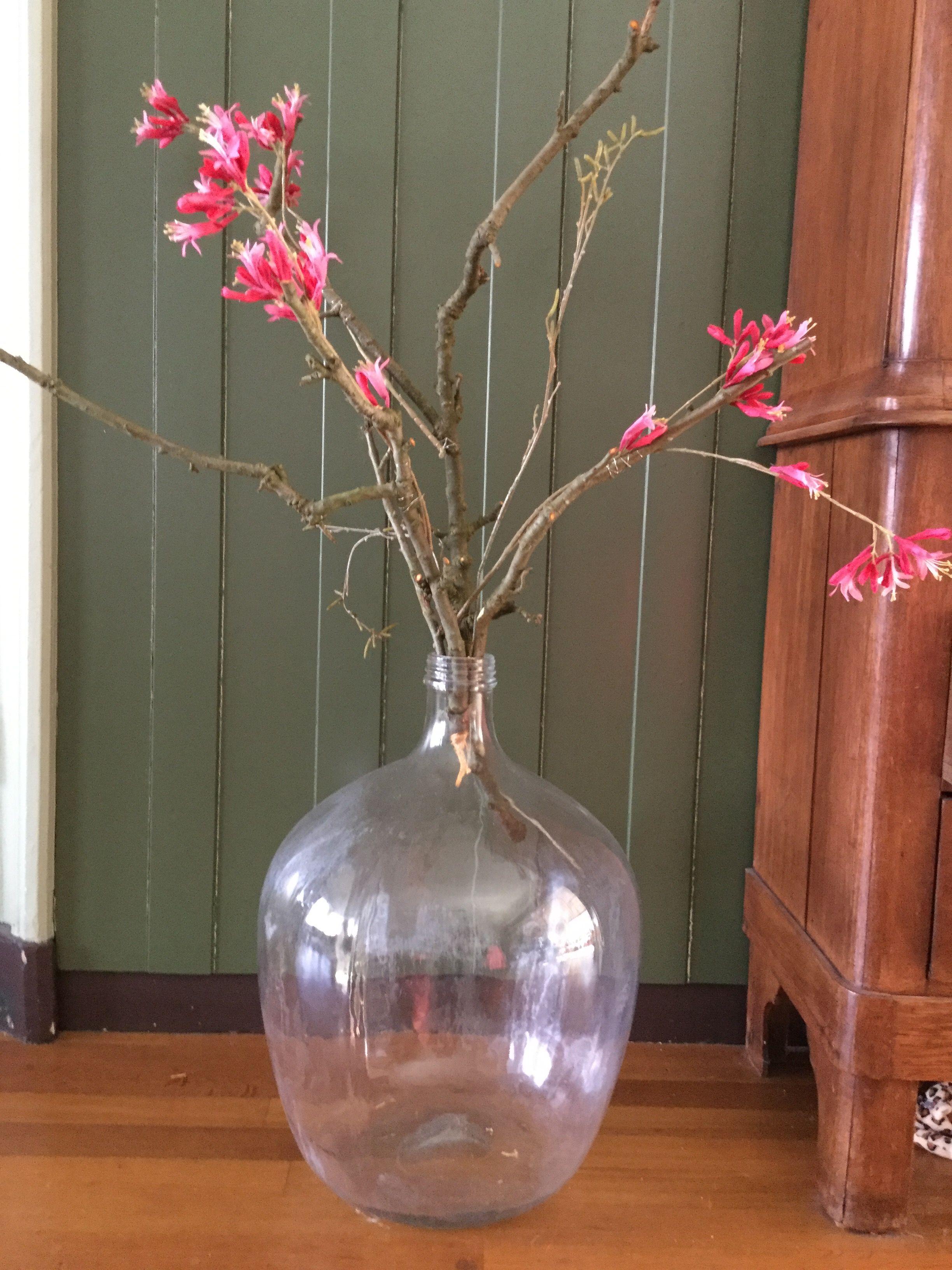 Takken Van De Appelboom Met Daarop Vast Gemaakt Zijde Bloemen Zijden Bloemen Decoratie Takken