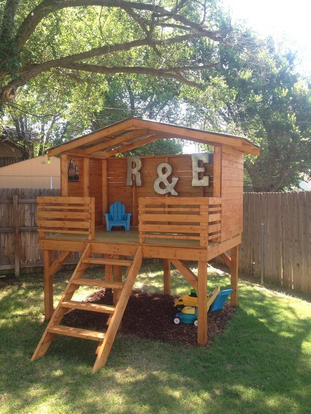 Project Play Fort   Backyard for kids, Backyard play ...