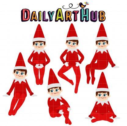 Elf in the Shelf Clip Art Set Daily Art Hub Free Clip