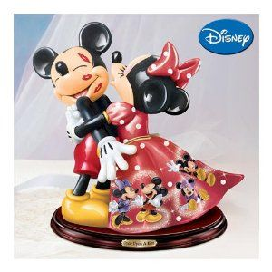 97ed4bac88b The Bradford Exchange Mickey and Minnie Mouse Once Upon a Kiss Figurine  129.95
